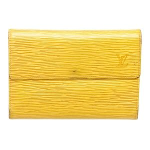 Louis Vuitton Yellow Leather International Wallet
